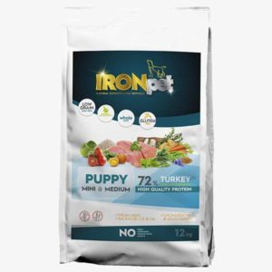 Karma sucha IRONpet Puppy Mini And Medium Turkey