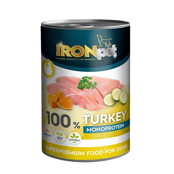 IRONpet Turkey 100% monoprotein 400g