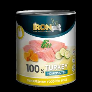 IRONpet Turkey 100% monoprotein 800g