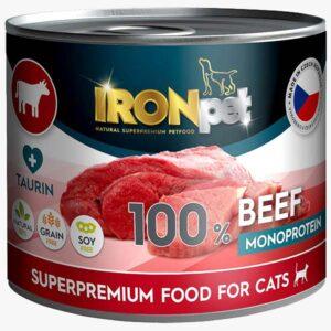 IRONpet BEEF monoprotein hipoalergiczna karma 200g