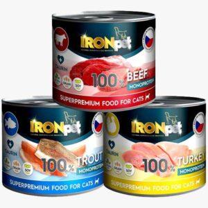 IRONpet Beef+Turkey+Trout karma dla kota