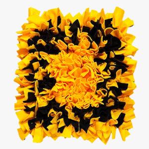 Mata węchowa żółto-czarna dla psa i kota 50x50 cm