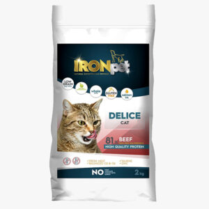 IRONpet Cat Delice Beef 2 kg sucha karma dla kota