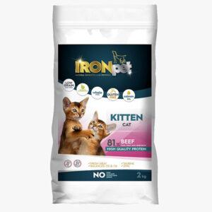 IRONpet Kitten Beef 2 kg sucha karma dla kociąt